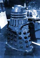 While everyone else was distracted by the Dalek, Orac crept across the set and on his way to freedom.
