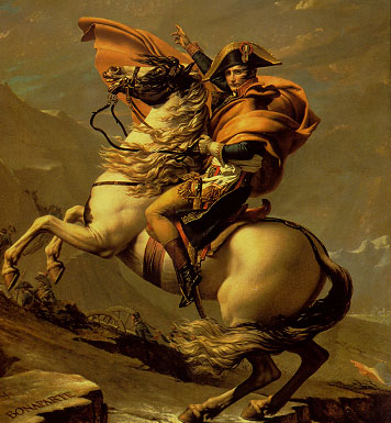 Napoleon on his horse called Elba. Or was it Black Bess?