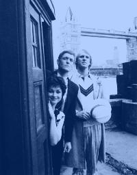 Hello. I'm the Doctor, and these are my friends Tegan and Turlough. We're now going to spend the rest of the story wandering around warehouses doing nothing in the slightest to advance the plot. Good day!