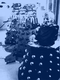 Two Daleks and Davros, following an encounter with Tegan. She loved them long time.