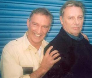 The philosopher and the killer: Greg de Polnay (V23) and Paul Darrow (Kaston Iago).